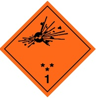1.1 Взрывчатые материалы с опасностью взрыва массой