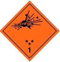 1.3 Взрывчатые материалы пожароопасные, не взрывающиеся массой