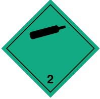 2.1 Невоспламеняющиеся неядовитые газы