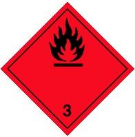 3.3 Легковоспламеняющиеся жидкости с температурой вспышки не менее 23 °C, но не более 61 °C