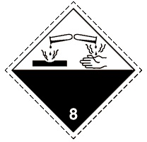 8.0 Едкие и (или) коррозионные вещества