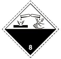 8.1 Едкие и (или) коррозионные вещества, обладающие кислотными свойствами